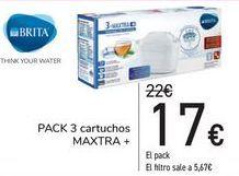 Oferta de PACK 3 Cartuchos MAXTRA + por 17€