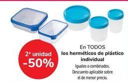 Oferta de En TODOS los herméticos de plástico individual, iguales o combinados  por