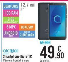 Oferta de Smartphone libre 1C ALCATEL por 49,9€