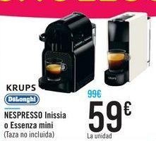 Oferta de NESPRESSO Inissia o Essenza mini KRUPS o Delonghi  por 59€