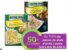 Oferta de En TODOS los sobres de platos de arroz y pasta GALLINA BLANCA por