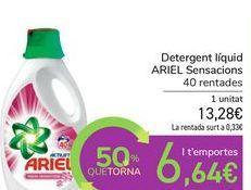 Oferta de Detergente líquido ARIEL Sensaciones por 13,28€