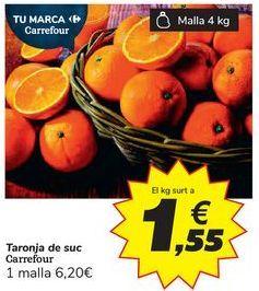 Oferta de Naranja de zumo Carrefour por 1,55€
