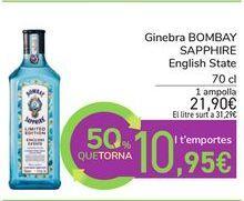 Oferta de Ginebra BOMBAY SAPPHIRE English State por 21,9€