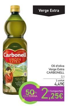 Oferta de Aceite de oliva Virgen Extra CARBONELL por 4,49€