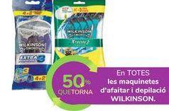 Oferta de En TODAS las maquinillas de afeitado y depilación WILKINSON por