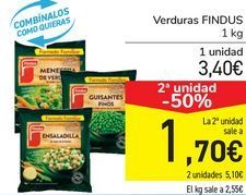 Oferta de Verdura Findus por 3,4€