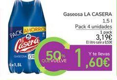 Oferta de Gaseosa LA CASERA por 3,19€