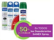 Oferta de En TODOS los Desodorantes SANEX Spray por