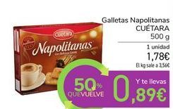 Oferta de Galletas napolitanas Cuétara por 1,78€