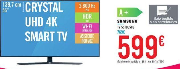 "Oferta de TV 43"" CRYSTAL UHD 4K SMART TV 43TU8506 SAMSUNG por 599€"
