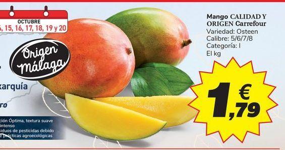 Oferta de Mango CALIDAD Y ORIGEN Carrefour por 1,79€