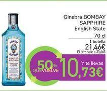 Oferta de Ginebra BOMBAY SAPPHIRE English State por 21,46€