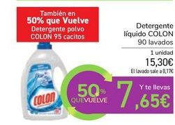 Oferta de Detergente líquido COLON por 15,3€