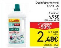 Oferta de Desinfectante textil Sanytol por 4,95€