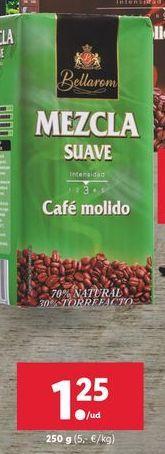 Oferta de Café molido mezcla suave Bellarom por 1,25€