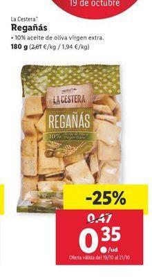 Oferta de Regañas 180 g La Cestera por 0,35€