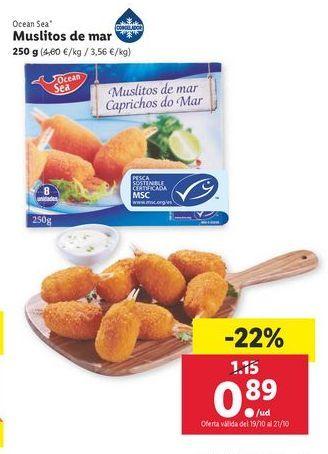 Oferta de Muslitos de mar 250 g Ocean Sea por 0,89€
