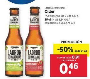 Oferta de Cider Ladrón de Manzanas por 0,91€