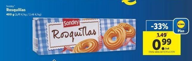 Oferta de Rosquillas sondey por 0,99€