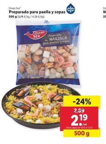 Oferta de Preparado para paella y sopas 500 g Ocean Sea por 2,19€