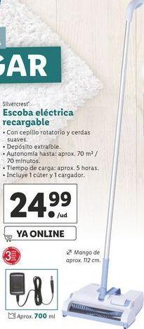 Oferta de Escoba eléctrica recargable SilverCrest por 24,99€