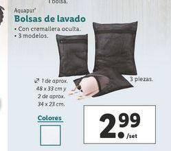 Oferta de Bolsas de lavado Aquapur por 2,99€