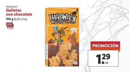 Oferta de Galletas con chocolate 150 g Halloween por 1,29€