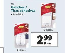Oferta de Ganchos / Tiras adhesivas 3M por 2,99€
