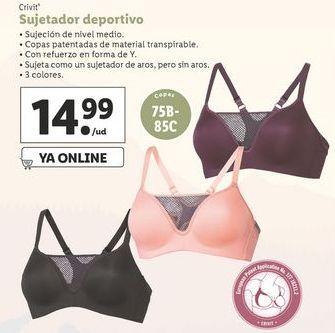 Oferta de Sujetador deportivo Crivit por 14,99€