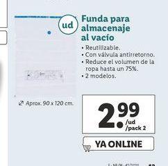 Oferta de Funda para almacenaje al vacío por 2,99€