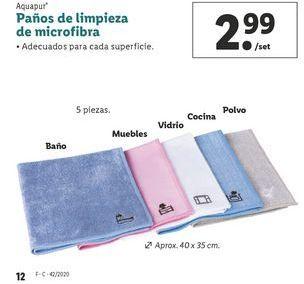 Oferta de Paños de limpieza de microfibra aquapur por 2,99€