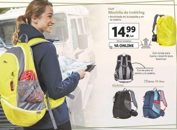 Oferta de Mochila de trekking Crivit por 14,99€