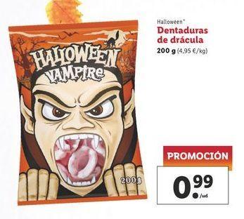 Oferta de Dentaduras de drácula 200 g Halloween por 0,99€