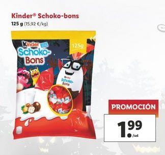 Oferta de Kinder Schoko-bons 125 g por 1,99€