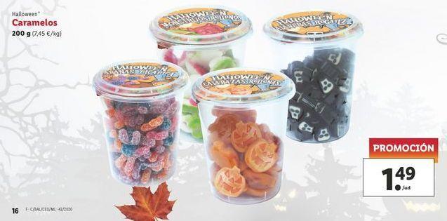 Oferta de Caramelos 200 g Halloween por 1,49€