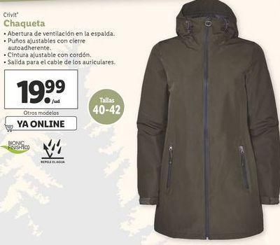 Oferta de Chaqueta Crivit por 19,99€
