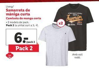 Oferta de Camiseta de manga corta Livergy por 6€