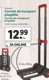 Oferta de Carrito de transporte plegable Parkside por 12,99€