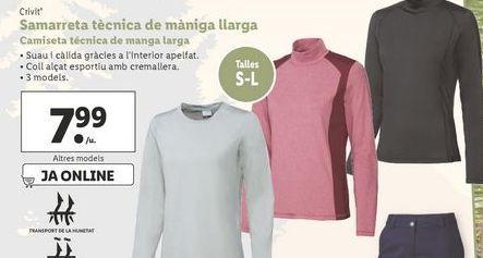 Oferta de Camiseta técnica de manga larga Crivit por 7,99€