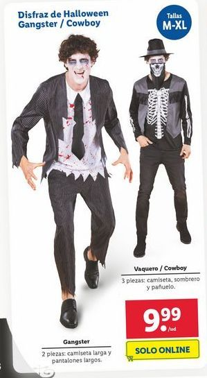 Oferta de Disfraz de Halloween Gangster / Cowboy por 9,99€