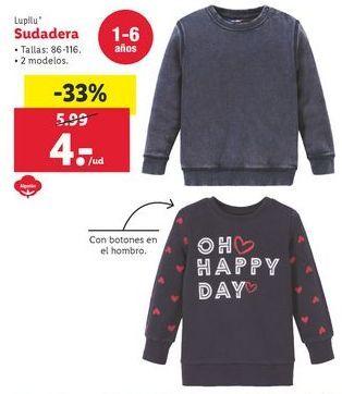 Oferta de Sudadera Lupilu por 4€