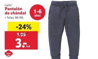 Oferta de Pantalón de chándal Lupilu por 3€