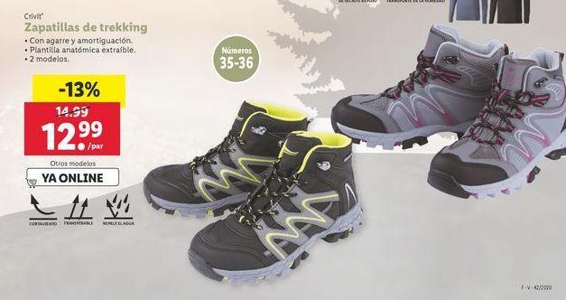 Oferta de Zapatillas de trekking Crivit por 12,99€