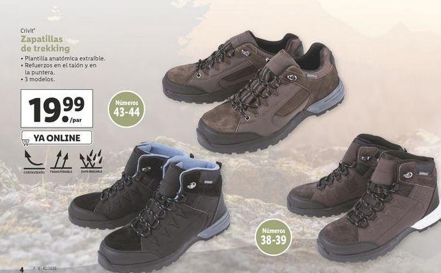 Oferta de Zapatillas de trekking Crivit por 19,99€