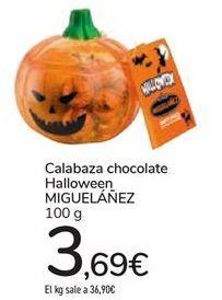 Oferta de Calabaza chocolate Halloween MIGUELÁÑEZ por 3,69€