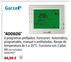 Oferta de Termostato Garza por 44,9€