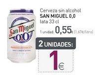 Oferta de Cerveza sin alcohol San Miguel por 0,55€