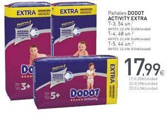 Oferta de Pañales Dodot por 17,99€