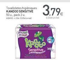 Oferta de Toallitas Kandoo por 3,79€